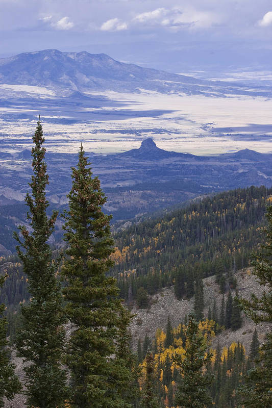 Black Mesa Art Print featuring the photograph Spanish Peaks by Charles Warren