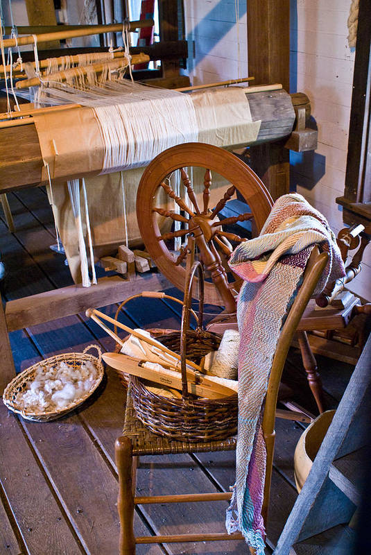 Spinning Art Print featuring the photograph Spinning And Weaving by Douglas Barnett