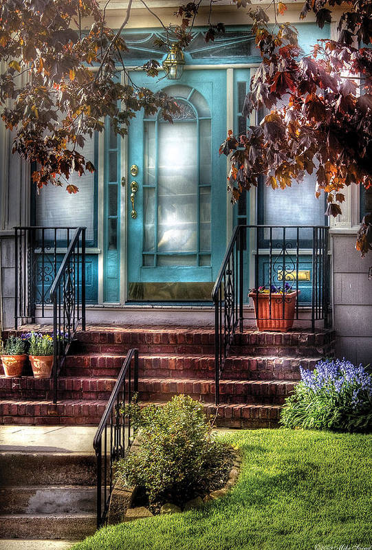 Savad Art Print featuring the photograph Spring - Door - Apartment by Mike Savad
