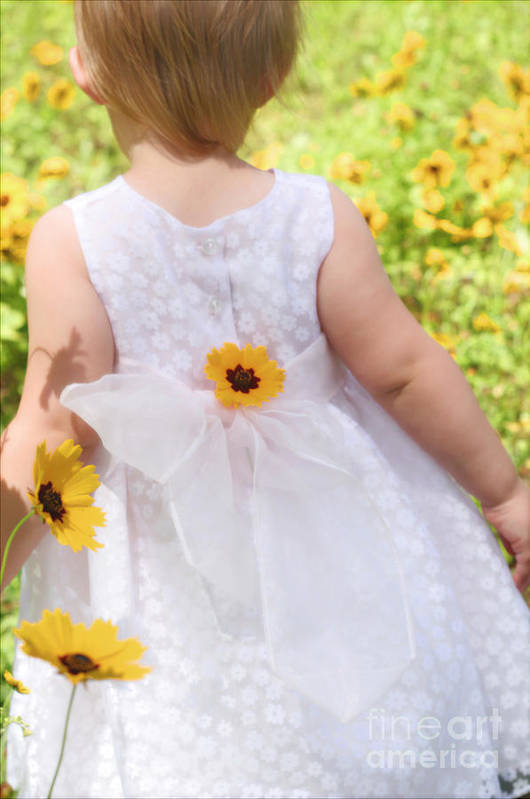 Spring Art Print featuring the photograph Spring Flower Girl by Angie Bechanan