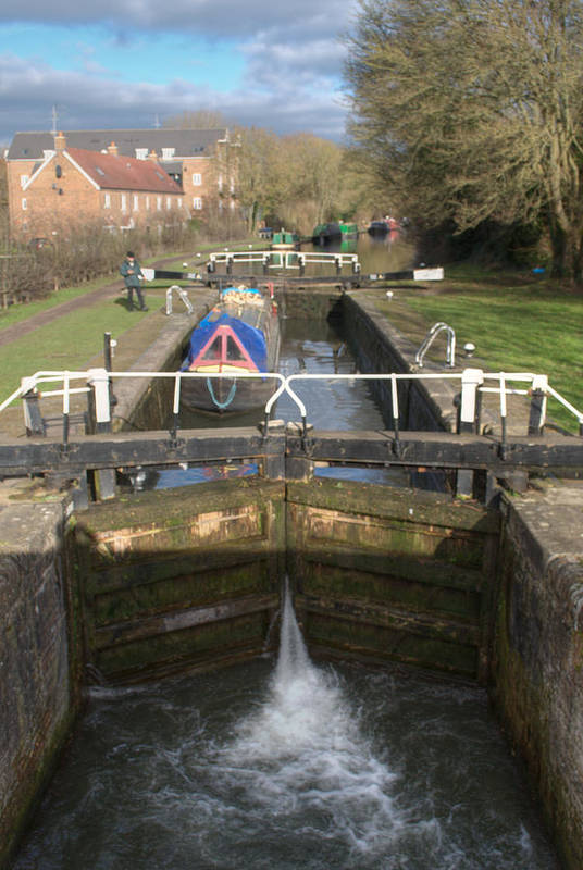 Springwell Art Print featuring the photograph Springwell Lock Rickmansworth by Chris Day