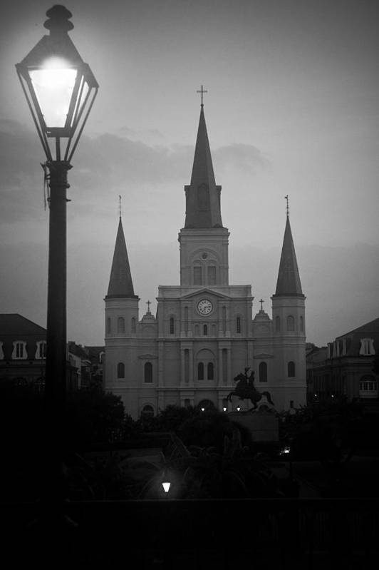 St. Louis Art Print featuring the photograph St. Louis Cathedral At Dawn by Daniel Ray