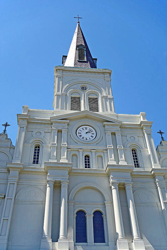 St. Louis Cathedral Art Print featuring the photograph St. Louis Cathedral Study 1 by Robert Meyers-Lussier