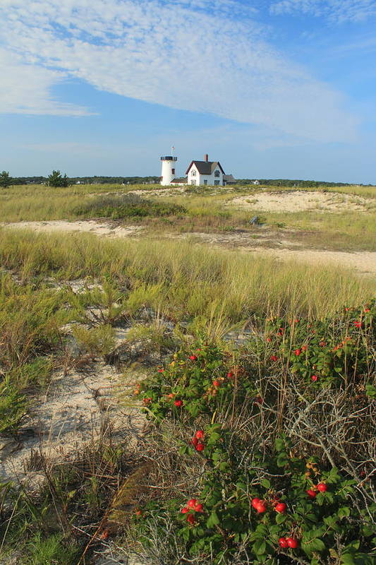 Chatham Art Print featuring the photograph Stage Harbor Lighthouse Cape Cod by John Burk