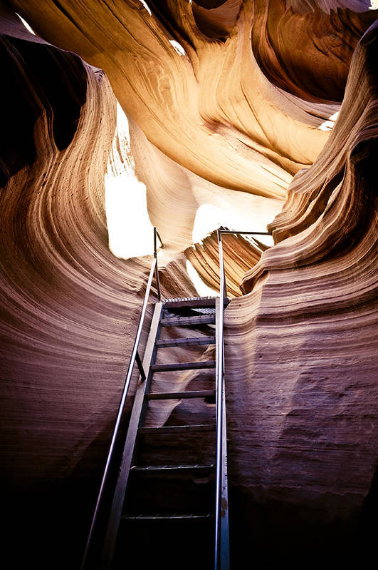 Canyon Art Print featuring the photograph Stairs From Chaos by Scott Sawyer