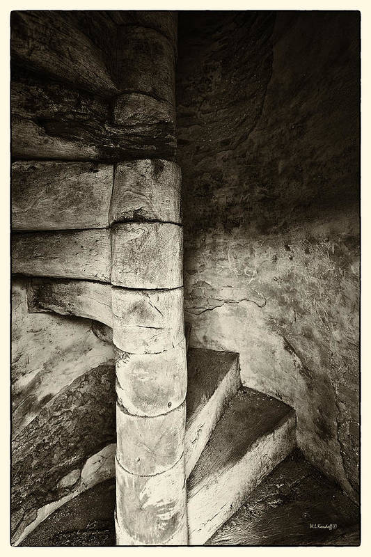Wooden Stairway Art Print featuring the photograph Stairway To Heaven by Wayne Kondoff