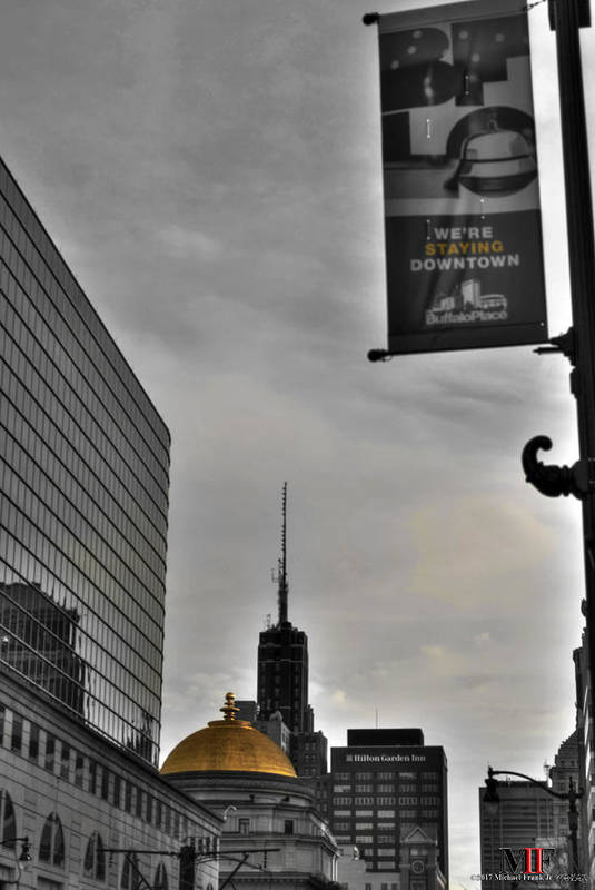 Buffalo Art Print featuring the photograph Staying Downtown by Michael Frank Jr