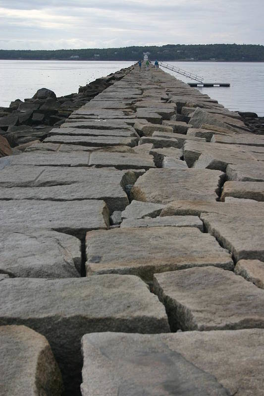 Landscape Art Print featuring the photograph Stone Walk To Light House by Dennis Curry