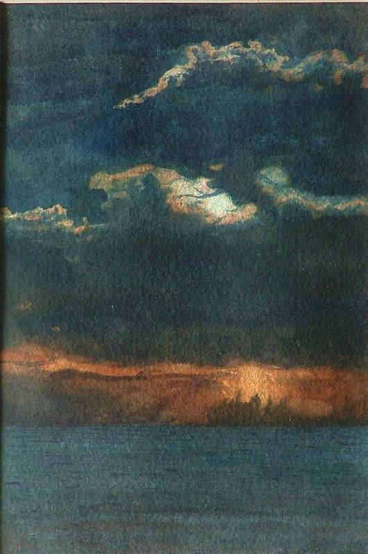 Landscape Art Print featuring the painting Storm Brewing by Lynn ACourt