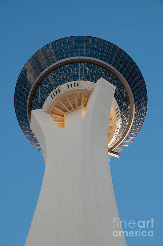 Las Vegas Art Print featuring the photograph Stratosphere Tower Up Close by Andy Smy