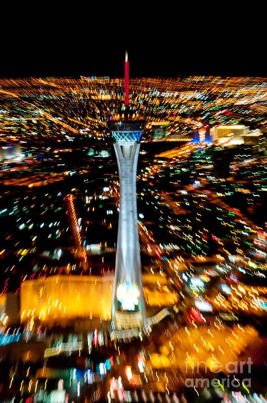 Las Vegas Art Print featuring the photograph Stratosphere Zoom by Andy Smy