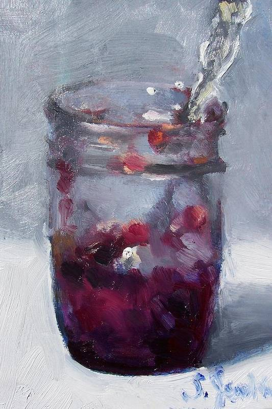 Paintings Art Print featuring the painting Strawberry Jam by Susan Jenkins