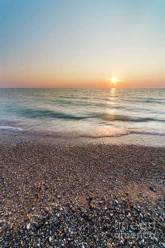Pierport Art Print featuring the photograph Summer Sunset At Pierport by Twenty Two North Photography