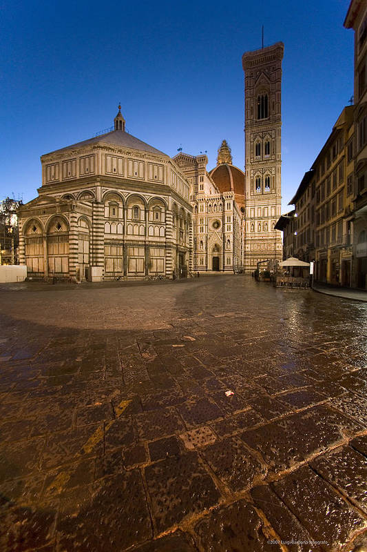 Italy Art Print featuring the photograph Sunrise In Florence 2 by Luigi Barbano BARBANO LLC