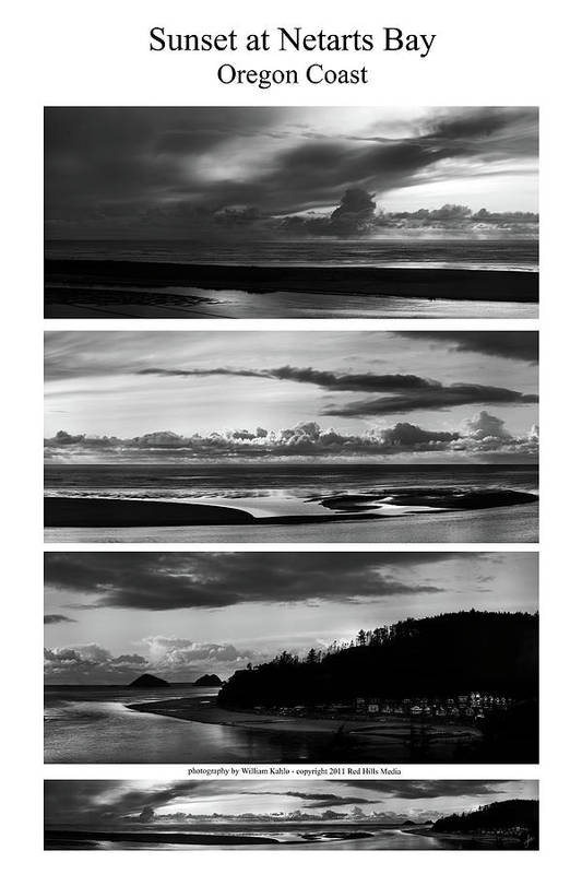 Oregon Coast Photographs Art Print featuring the photograph Sunset At Netarts Bay by William Jones