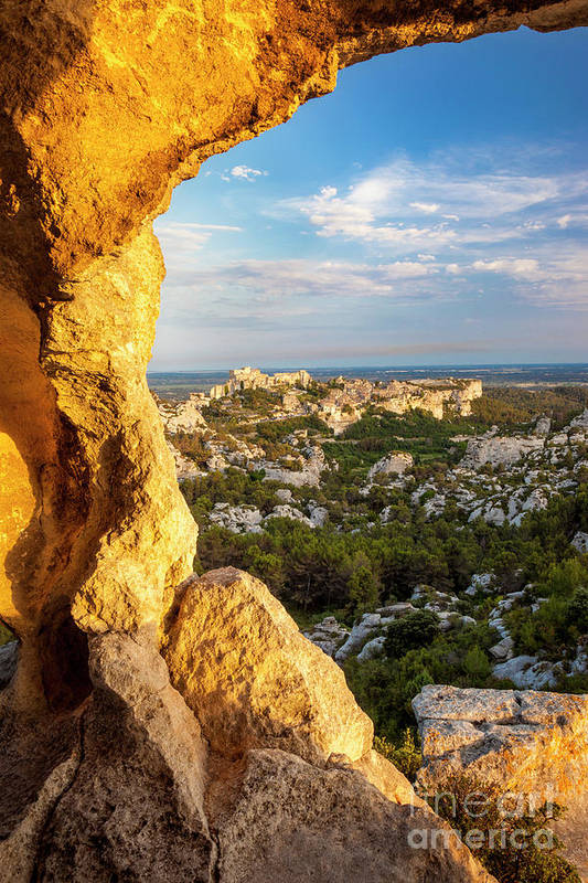 Cave Art Print featuring the photograph Sunset Over Les Baux by Brian Jannsen