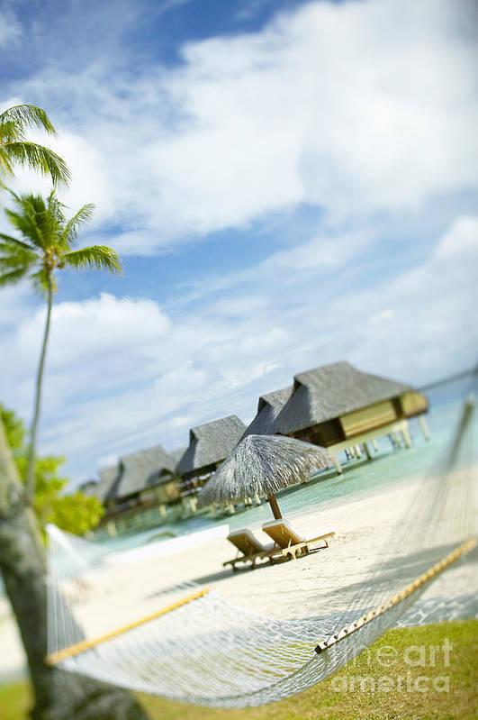 10-pfs0158 Art Print featuring the photograph Tahiti, Bora Bora by Kyle Rothenborg - Printscapes