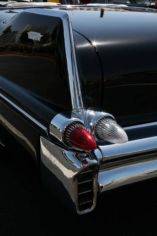 Classic Car Art Print featuring the photograph Tail Fin by Carl Hinkle