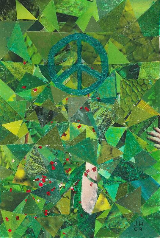 Peace Art Print featuring the painting Take A Step by Jerry Hanks