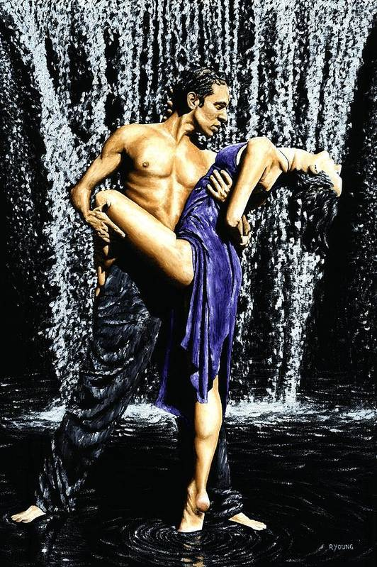 Tango Art Print featuring the painting Tango Cascade by Richard Young