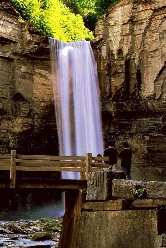 Waterfall Art Print featuring the photograph Taughannock Falls by Roger Soule