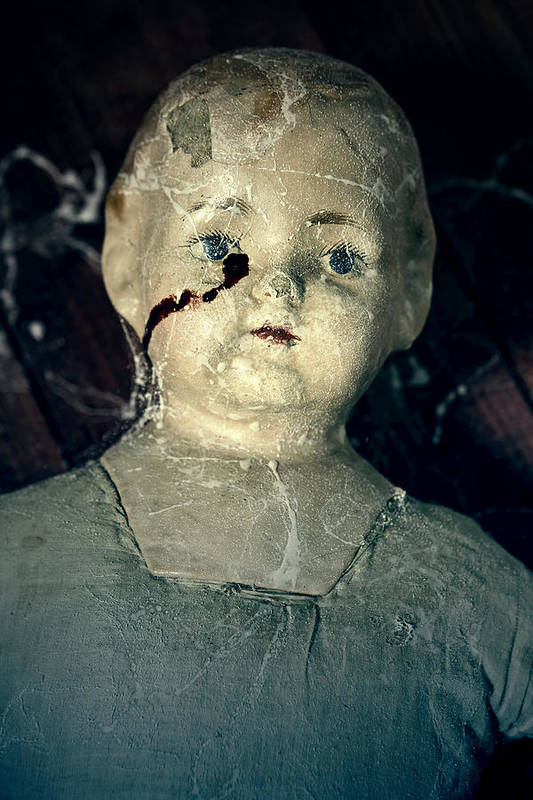 Doll Art Print featuring the photograph Tears Of Blood by Joana Kruse