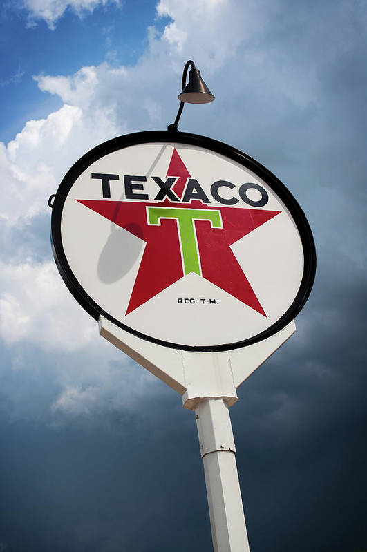 Gas Station Art Print featuring the photograph Texaco Star by Bud Simpson