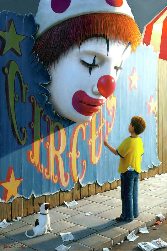 Clown Art Print featuring the painting The Big Top by Brian McCarthy
