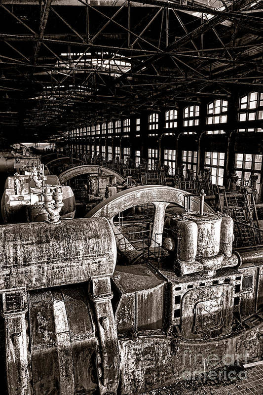 Bethlehem Art Print featuring the photograph The Blower House At Bethlehem Steel by Olivier Le Queinec