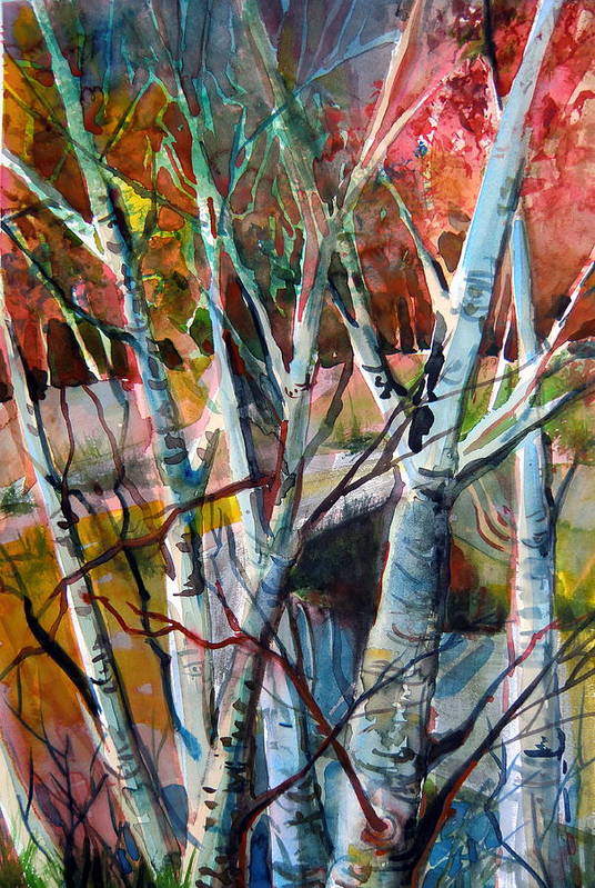 Autumn Print featuring the painting The Cries Of Autumn by Mindy Newman