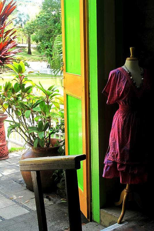 Dress Art Print featuring the photograph The Dress Store by Ian MacDonald