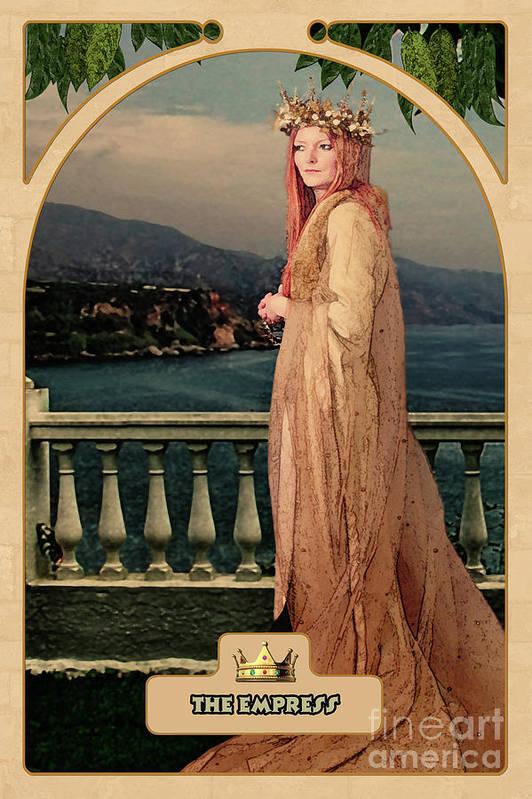 Magic Art Print featuring the digital art The Empress by John Edwards