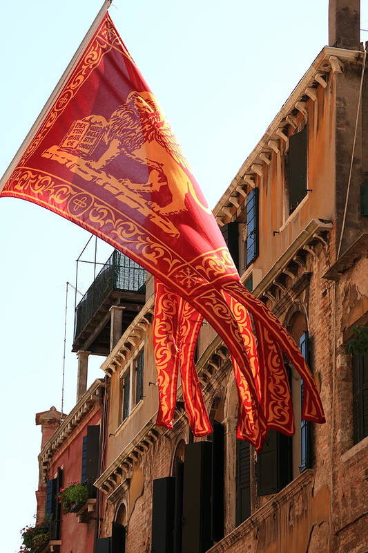 Venice Art Print featuring the photograph The Flag Of Venice by Michael Henderson