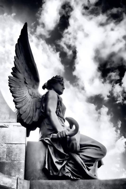 Angel Art Print featuring the photograph The Guardian by Gabriela Insuratelu