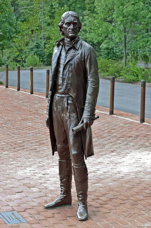 Thomas Jefferson Art Print featuring the photograph The Man Behind Monticello by DigiArt Diaries by Vicky B Fuller