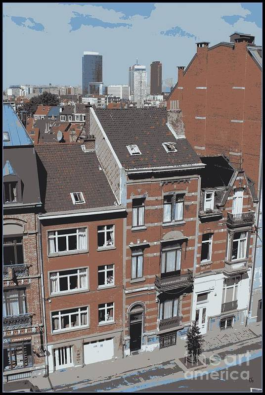 Brussels Art Print featuring the photograph The Many Layers Of Brussels by Carol Groenen