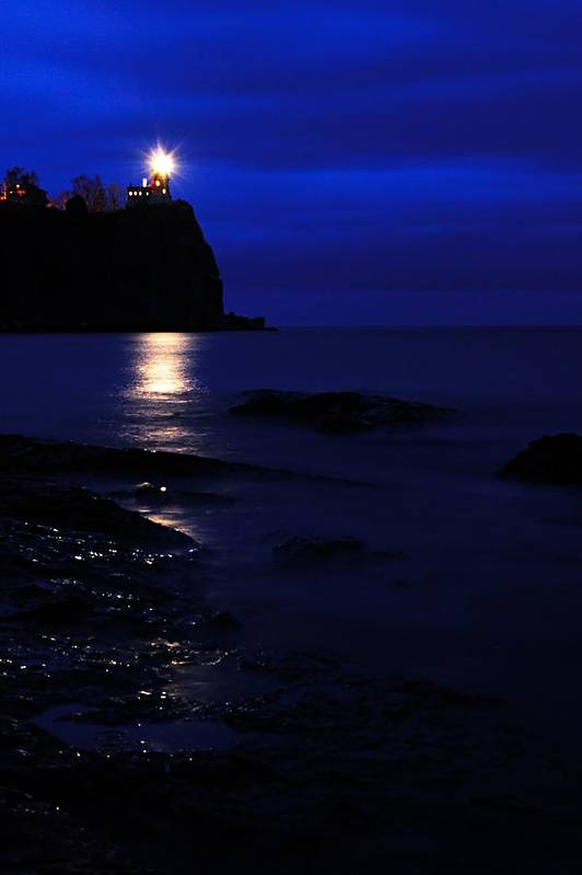 Split Rock Lighthouse Art Print featuring the photograph The Memory Lives On... by Larry Ricker