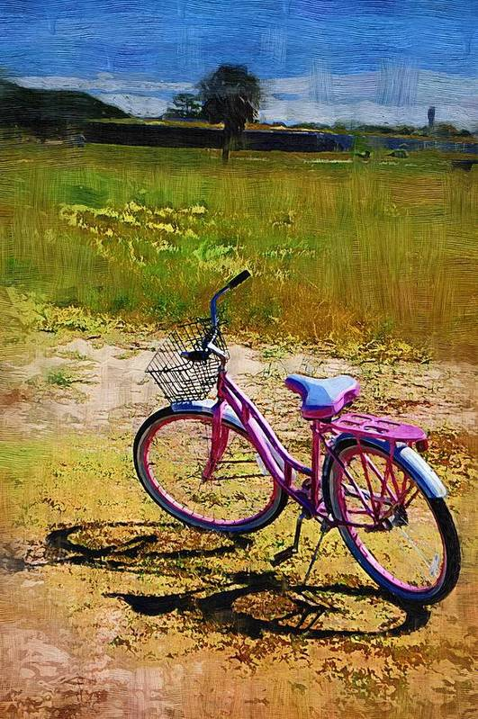 Art Print featuring the photograph The Pink Bike by Donna Bentley