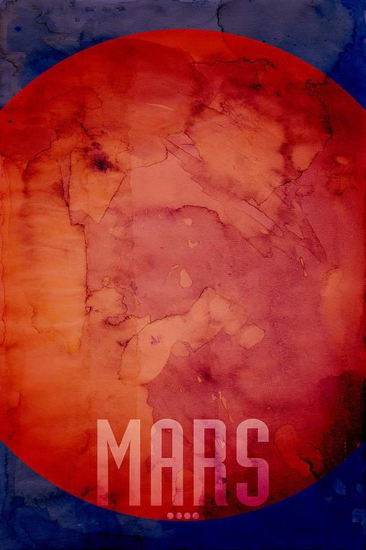 Mars Art Print featuring the digital art The Planet Mars by Michael Tompsett