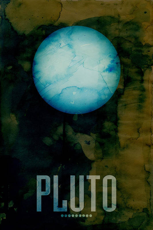 Pluto Art Print featuring the digital art The Planet Pluto by Michael Tompsett