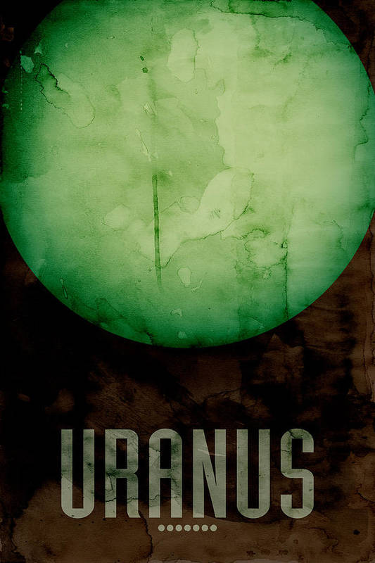 Uranus Art Print featuring the digital art The Planet Uranus by Michael Tompsett