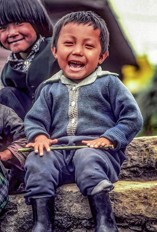 Himalaya Art Print featuring the photograph The Power Of Smiles by Steve Harrington