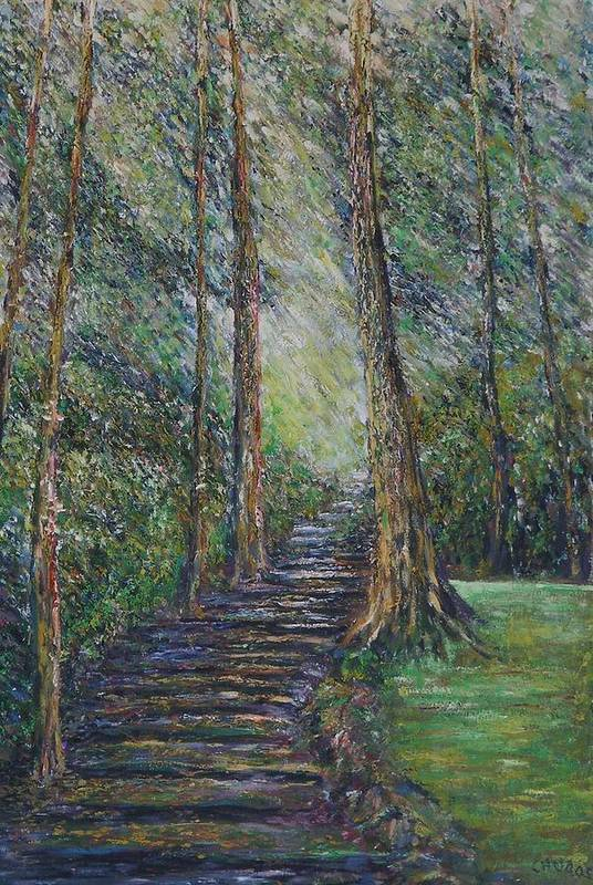 Landscape Art Print featuring the painting The Promise by Wendy Chua