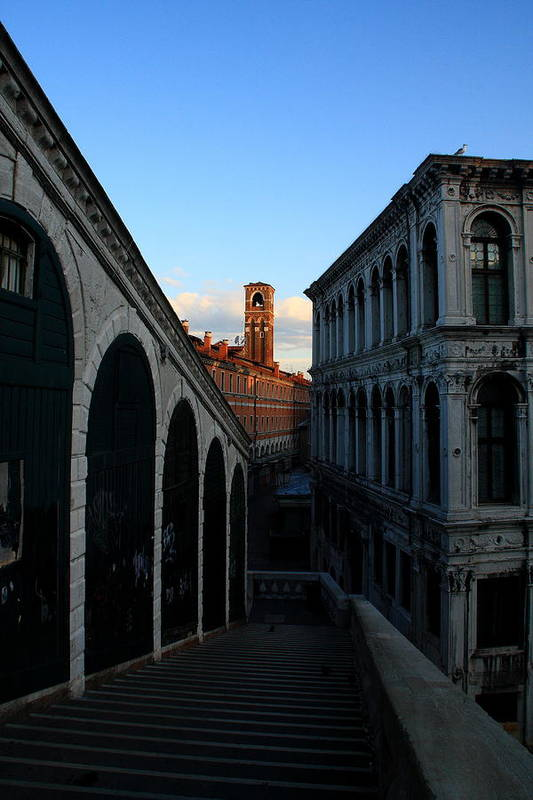 Venice Art Print featuring the photograph The Rialto At Sunrise by Michael Henderson