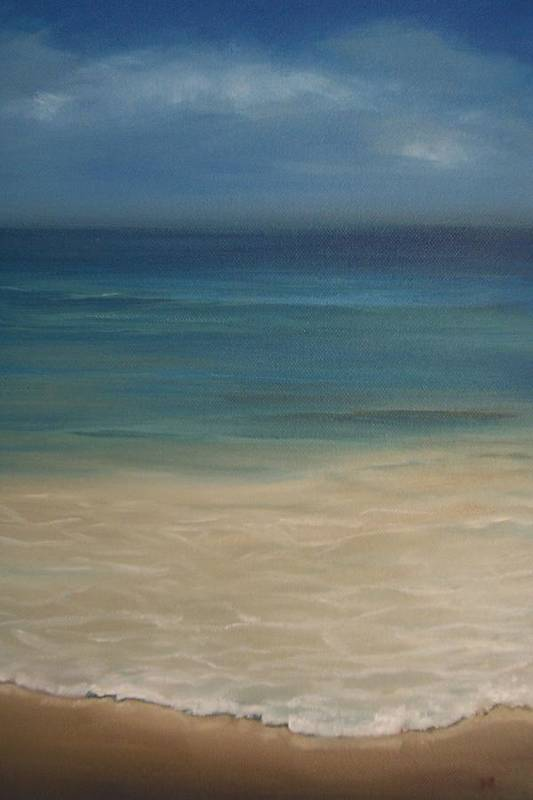 Sea Art Print featuring the painting 'the Shore'' by Marina Harris