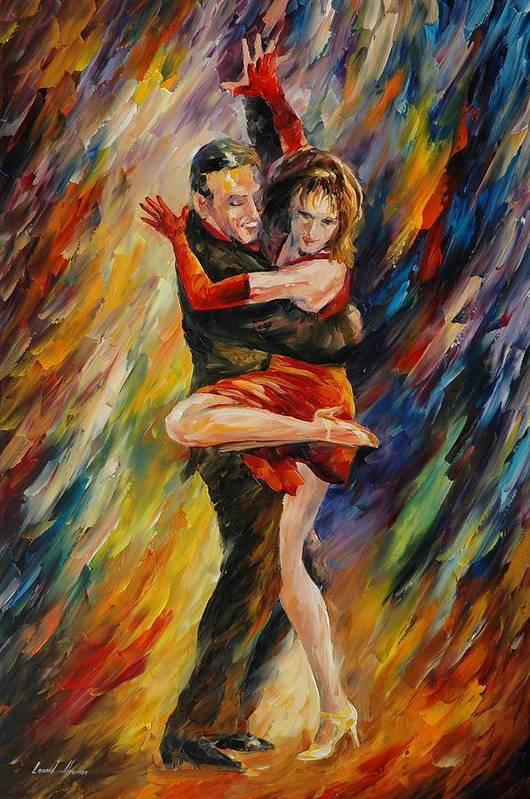 Dance Art Print featuring the painting The Sublime Tango by Leonid Afremov