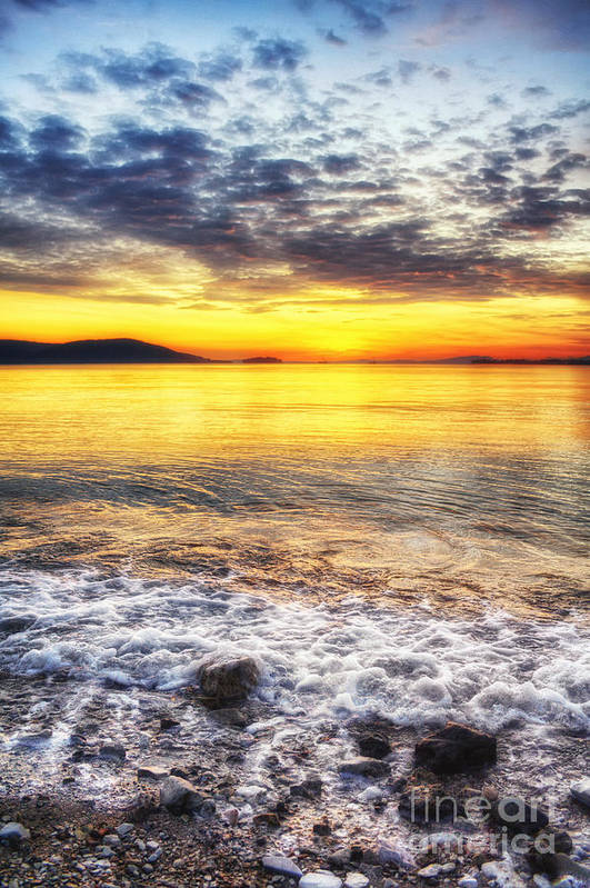 Sea Art Print featuring the photograph The Waves That Calm Me by V-Light Photography