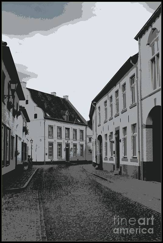 Gray And White Art Print featuring the photograph The White Village - Digital by Carol Groenen