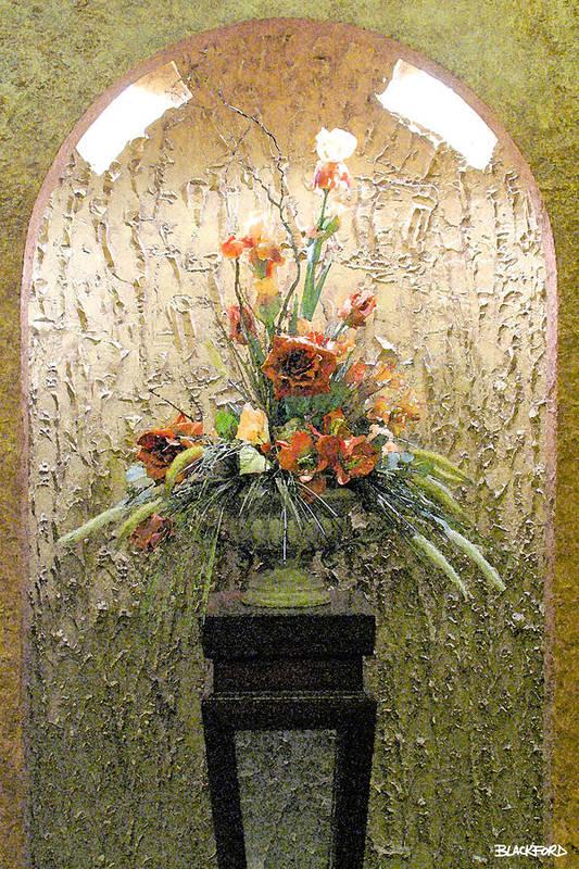 Flowers Art Print featuring the digital art Theater Flower Arrangement by Al Blackford