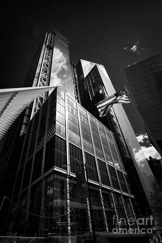 Three Art Print featuring the photograph three and four world trade center New York City USA by Joe Fox